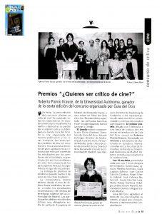 Nacho Medivas, ganador del concurso crítico de cine de Guía del Ocio