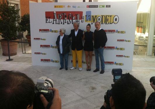 Chus Lampreave, Jean Rochefort, Aida Folch y Fernando Trueba