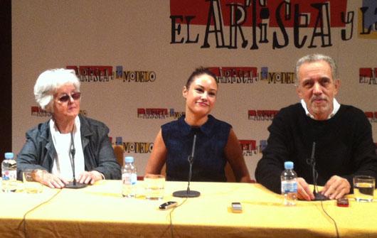 Chus Lampreave, Aida Folch y Fernando Trueba